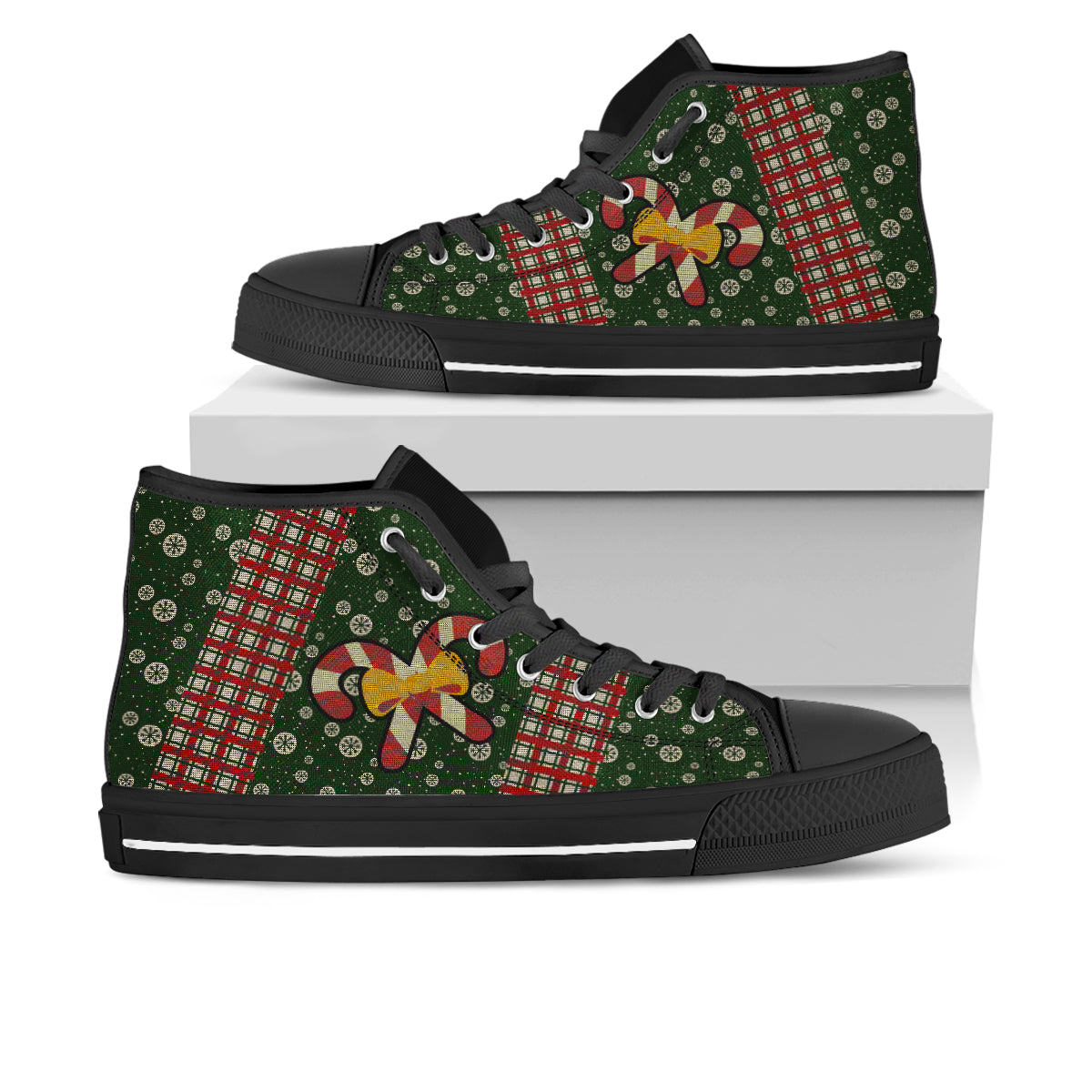 Candy Cane Ugly Christmas Sneakers