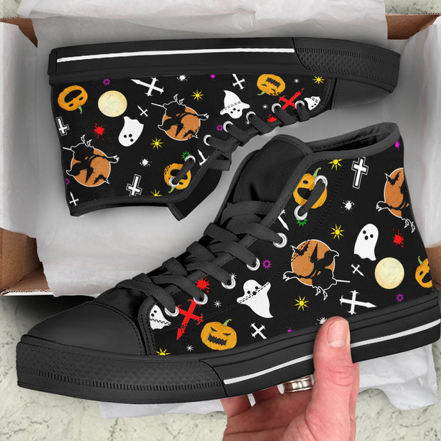 Halloween Themed High Top Sneakers