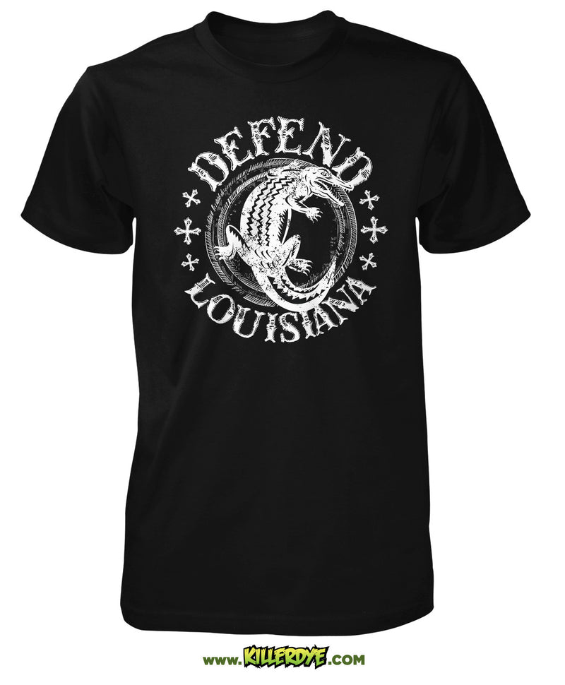 Defend Louisiana Alligator T-Shirt - Mens - KillerDye T-Shirts