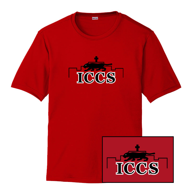 ICCS Red Shirt - Full Chest (Dri-fit)