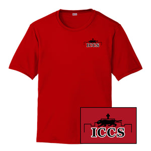 ICCS Red Shirt - Left Chest (Dri-fit)