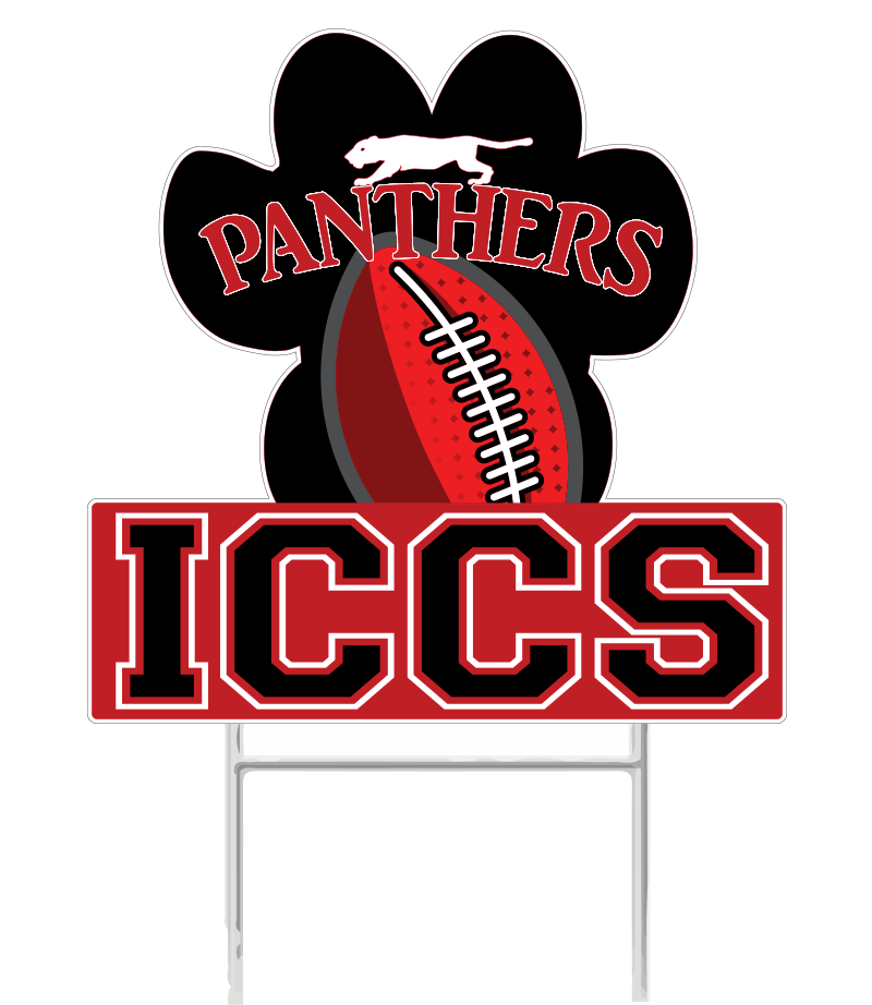 ICCS - Panther Paw - Yard Sign - ShopSWLA