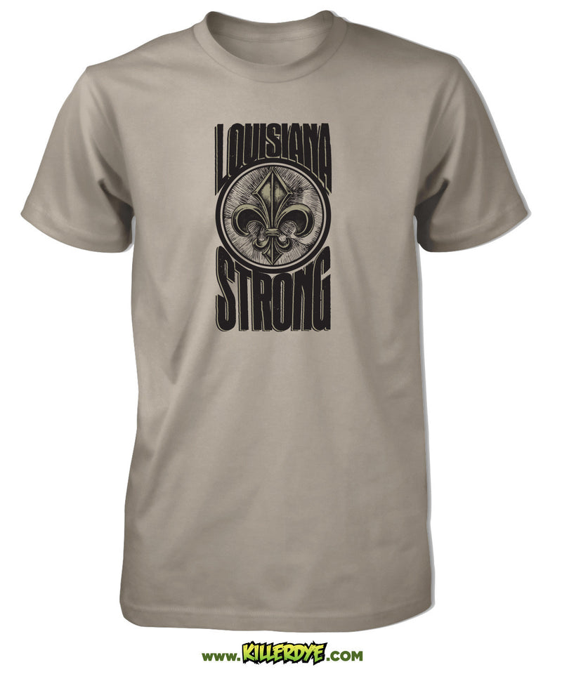 Louisiana Strong w/ Fleur de Lis T-Shirt - Mens / Unisex - ShopSWLA