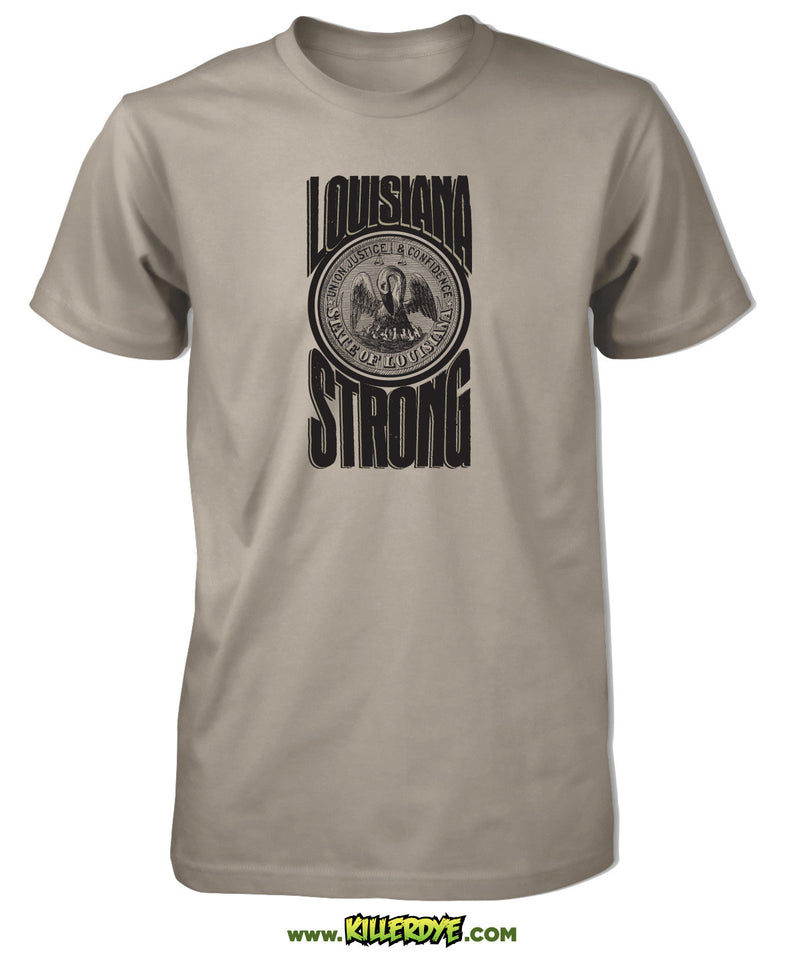 Louisiana Strong w/ Pelican T-Shirt - Mens / Unisex - ShopSWLA