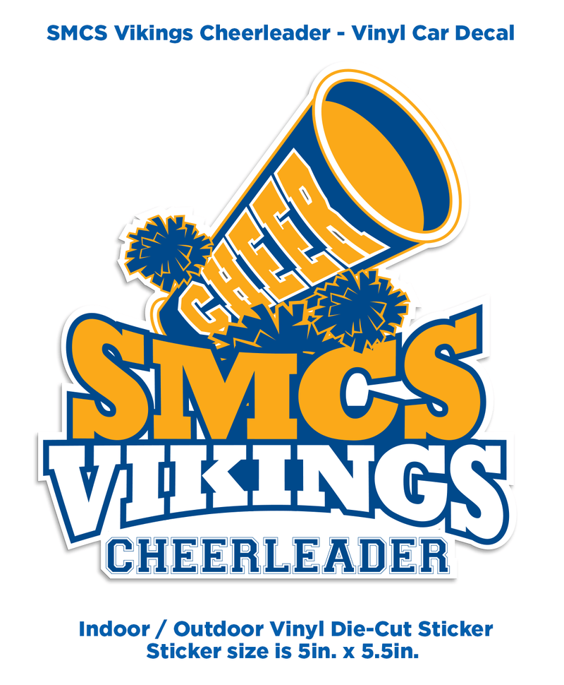 SMCS Vikings Cheerleader - Decal - ShopSWLA