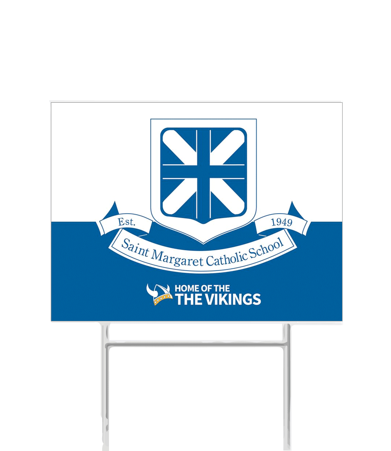 SMCS Crest Yard Sign
