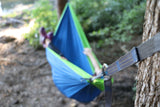 Twisted Double Hammock - Blue/Bright Green (Full Setup)