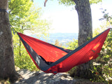Twisted Double Hammock - Red-Orange/Smoke Grey (Lifestyle Full Setup)