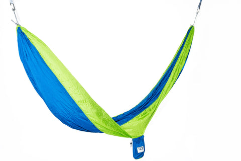 Twisted Double Hammock - Blue/Bright Green
