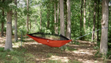 Twisted Big Mozzi Hammock - Red-Orange (Full Setup)