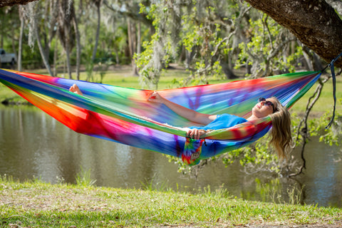 hang bandido tree hanging hammock how distance hammocks to lazy tying a recommended diagram