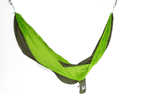 Twisted Double Hammock - Green/Bright Green