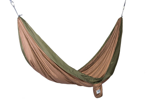 Twisted Double Hammock - Dk Khaki/Green