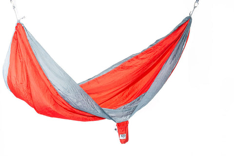 Twisted Double Hammock - Red-Orange/Smoke Grey