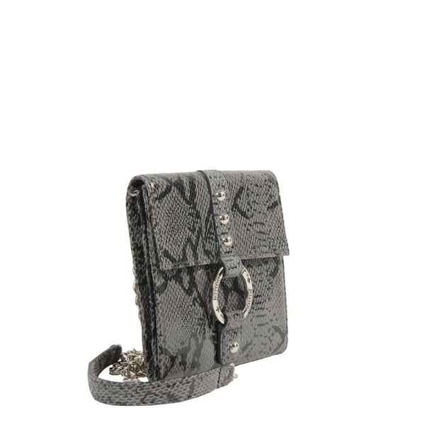 small python leather crossbody clutch