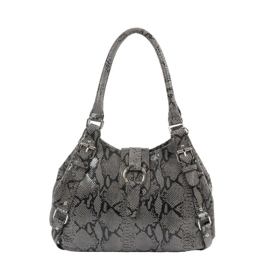 Python Print Leather Bucket Bag - Jentou  - 2