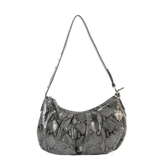 Python Print Leather Shoulder Bag - Jentou  - 1