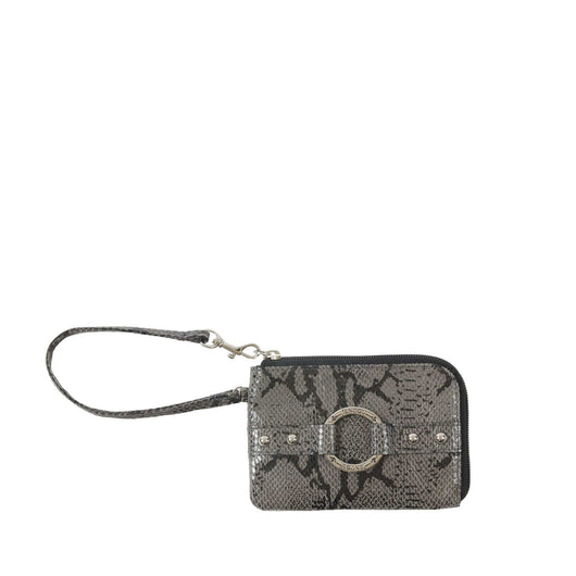 Alyssa Python Leather Wristlet