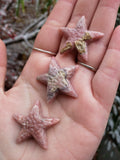 Rhodochrosite Starfish Carvings