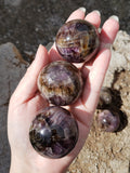 "1.75"" Super Seven Included Amethyst Spheres"