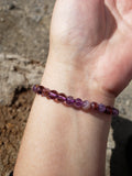 Super Seven Included Amethyst Bracelets