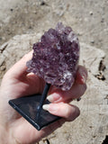 "4.1"" Amethyst Cluster with Stand"