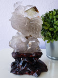 Hand-Carved Quartz Rooster