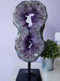Amethyst Geode Slice Display