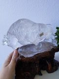 Hand-Carved Quartz Bull