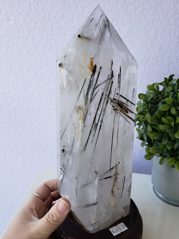 Tourmalinated Quartz Tower