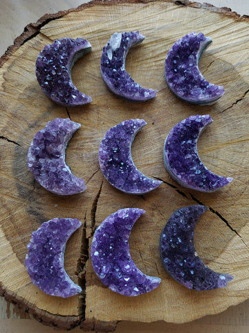 Amethyst Crescent Moons