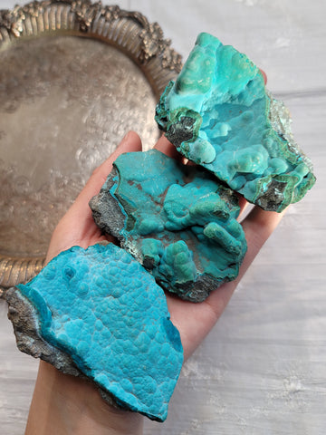Rough Chrysocolla Specimens