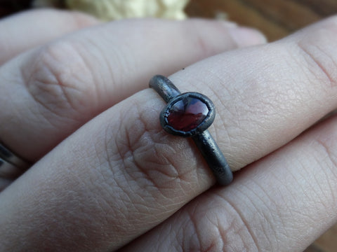 Size 8.5 -Spinel Copper Ring