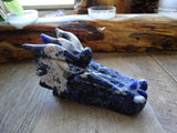 "5"" Carved Sodalite Dragon Head"