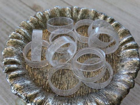 Size 9 Clear Quartz Rings