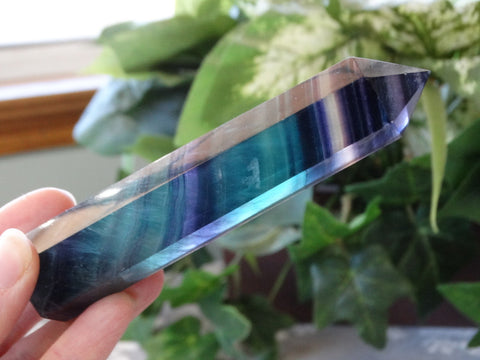 "4.5"" Polished Fluorite Point - Extra Quality"