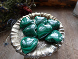"1.1"" Malachite Hearts"