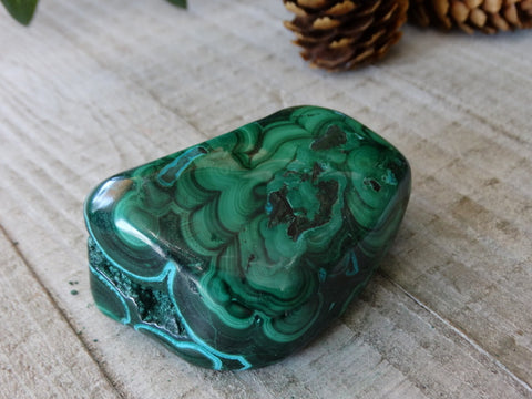"2.3"" Polished Malachite and Chrysocolla"