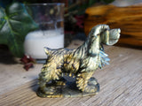 "2.2"" Labradorite Dog Carving"