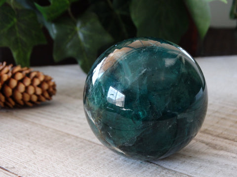 "2.4"" Green Fluorite Sphere"
