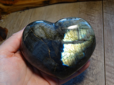 "3.9"" Polished Labradorite Heart"