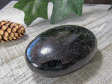 "3.1"" Black Tourmaline Palm Stone"