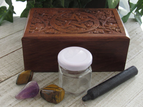Focus Spell Set B -Tiger's Eye and Amethyst