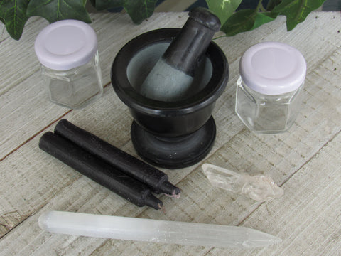 Basic Spell Set C - Quartz and Selenite
