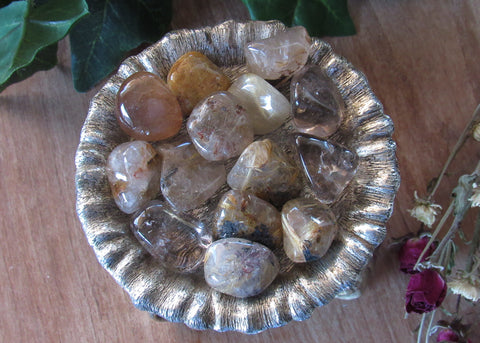 Extra Quality Tumbled Rutilated Quartz (1Piece)