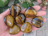 "1.4"" Tiger's Eye Hearts"