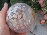 "3.25"" Flower Agate Sphere"