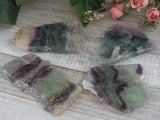 Rainbow Fluorite Slices