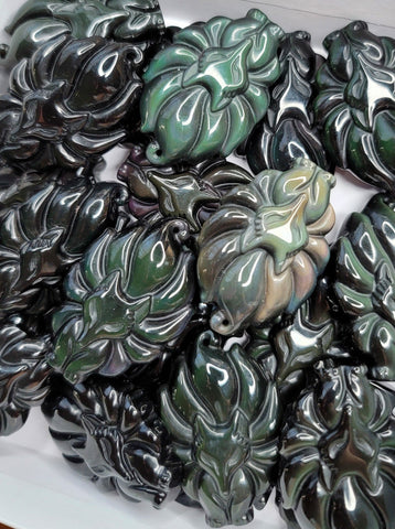 Rainbow Obsidian Nine Tail Foxes