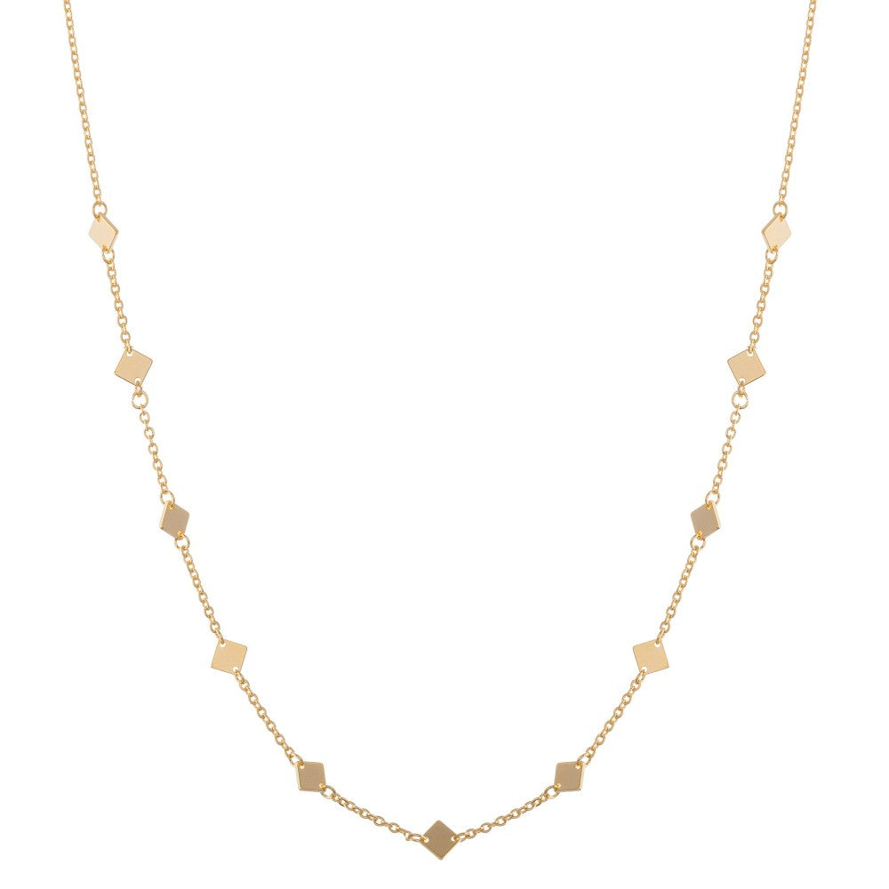 dainty gold layering necklace (square)